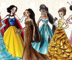 princess, disney, and dress image