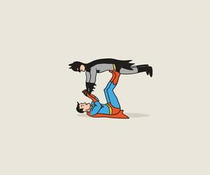 batman, happy, and friends image