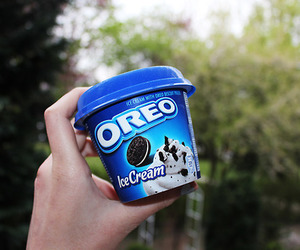 oreo, ice cream, and yum image