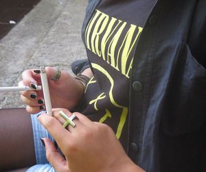 black, cigarettes, and friend image