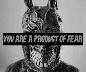 fear, donnie darko, and black and white image