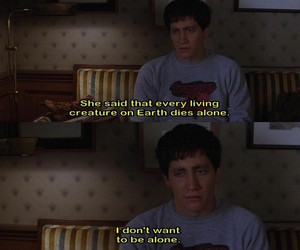 donnie darko, alone, and quote image