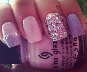 girly, nails, and purple image