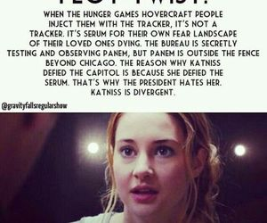 divergent, plot twist, and the hunger games image