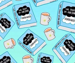 the fault in our stars, book, and tea image