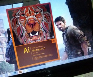 illustrator, the last of us, and sony vaio image