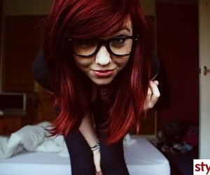 girl, glasses, and pretty image