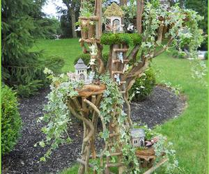 amazing, fairy garden, and if only i had a yard image