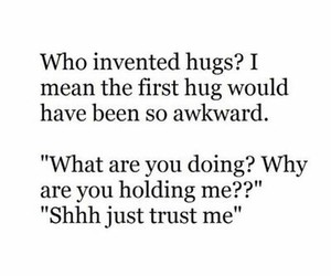 hug, funny, and awkward image