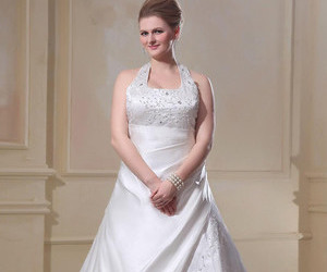 dress, wedding, and women image