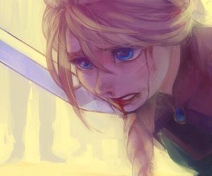 anguish, blonde, and drawing image