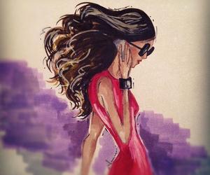 beautiful, drawing, and fashion image
