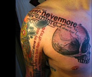 own, skull, and tattoo image