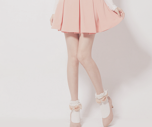 pink, skirt, and fashion image