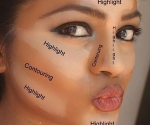 makeup, highlight, and make up image