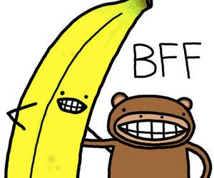 bff, banana, and monkey image