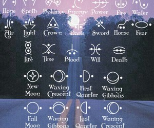 moon, grunge, and symbol image