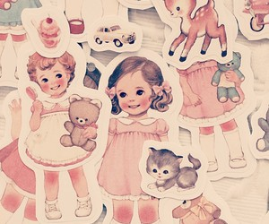 doll, dollies, and pink image