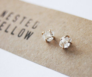 earrings, style, and diamond image