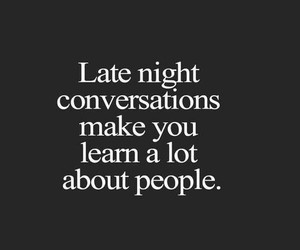 conversation, late night, and people image