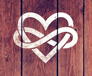 heart, wallpaper, and wood image