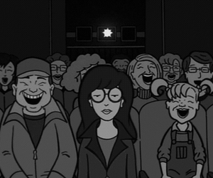 Daria, gif, and black and white image