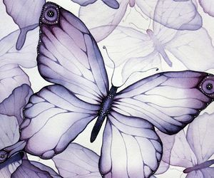 art, butterfly, and purple image