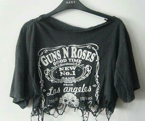 fashion, Guns N Roses, and black image