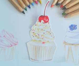 art, beautiful, and cupcakes image