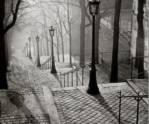 black and white, paris, and street image