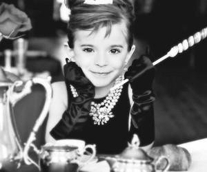 cute, audrey hepburn, and black and white image