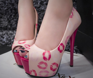 kiss, shoes, and pink image