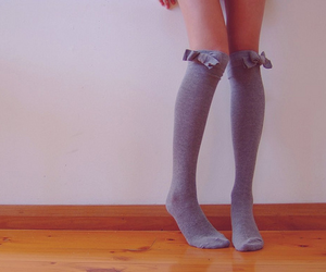 socks, legs, and bow image