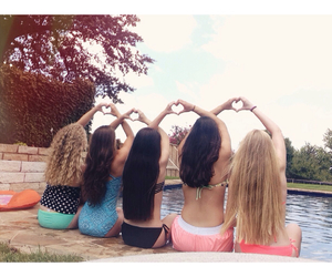 blonde, friendship, and heart image