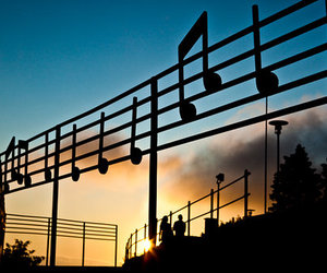 music and sunset image