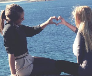 girl, friendship, and heart image