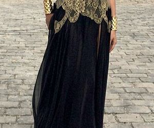 beautiful, black, and gold image