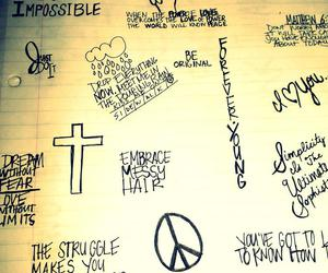 cross, impossible, and peace image