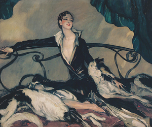 painting, 1930, and jean-gabriel domergue image