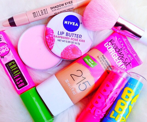 covergirl, glam, and pink image