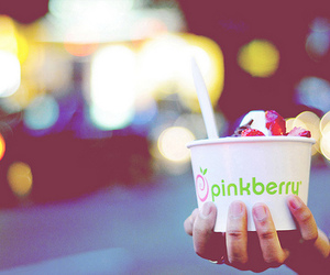 pinkberry and bokeh image