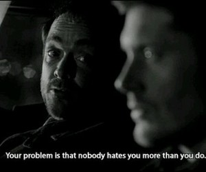 supernatural, hate, and crowley image