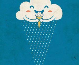 ice cream, rain, and clouds image