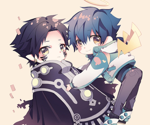 dramatical murder, ren, and aoba image