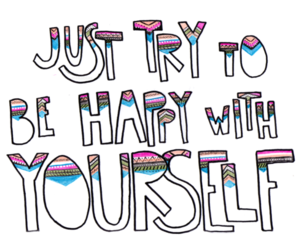 happy, yourself, and quote image