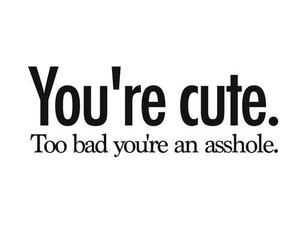 cute, quote, and asshole image