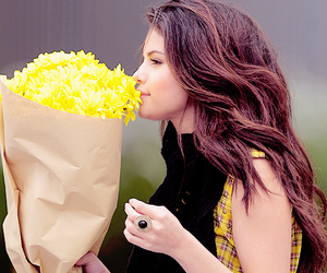 selena gomez, selena, and flowers image