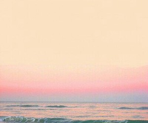 beach, peace, and pink image