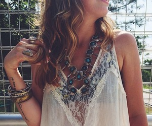 boho, jewelry, and rock image