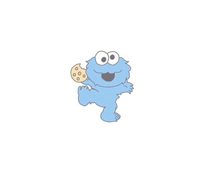 cookie monster, cute, and Cookies image